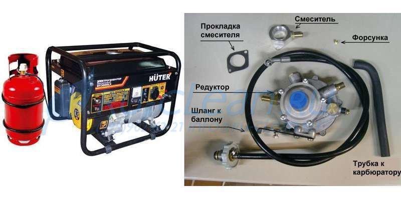 Бензогенератор на газу